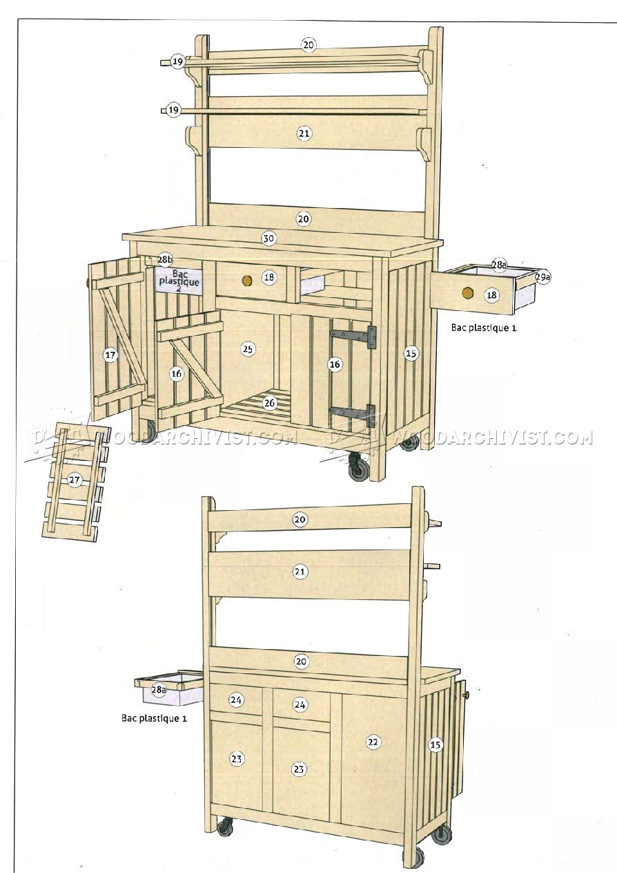 Outdoor potting bench plans woodarchivist for Potting shed plans diy blueprints