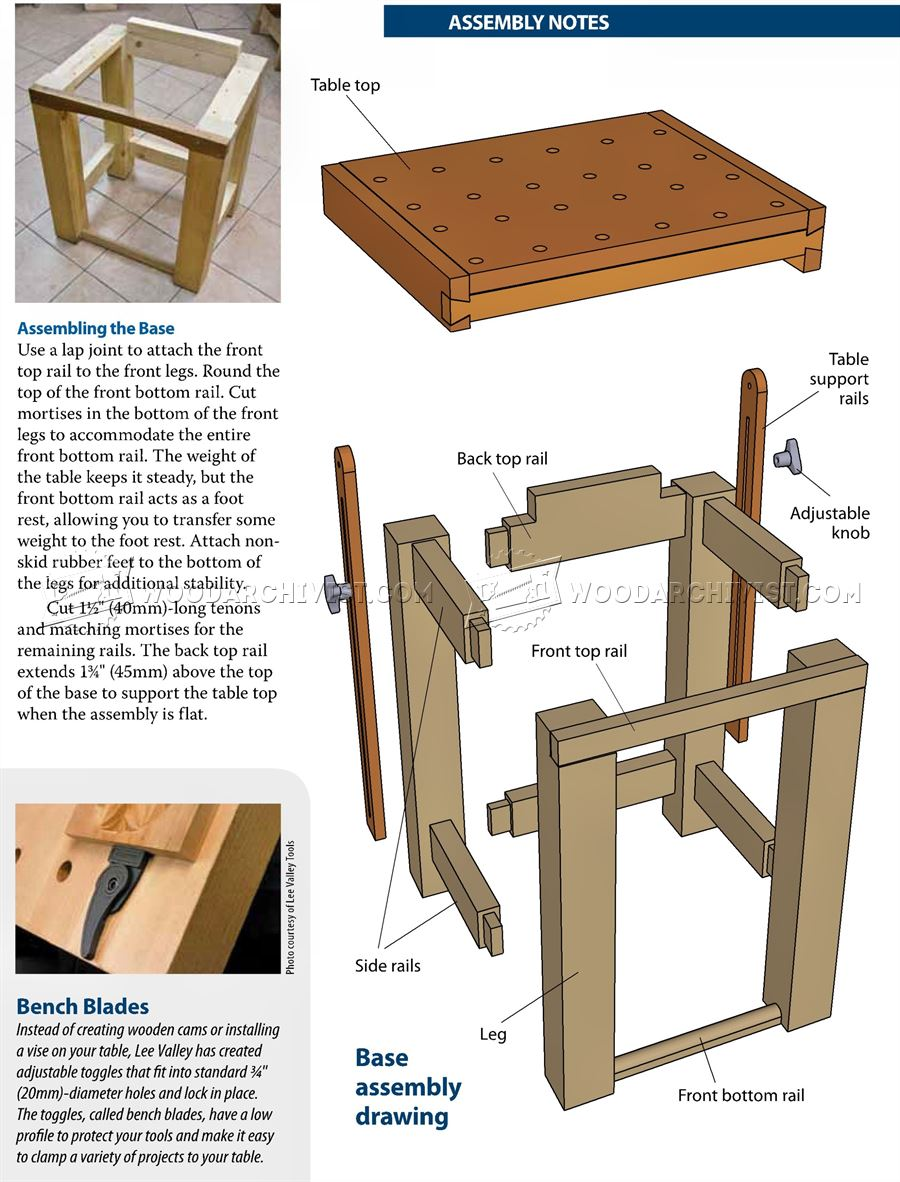 tilting carving table plans woodarchivist