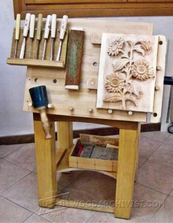 1155-Tilting Carving Table Plans