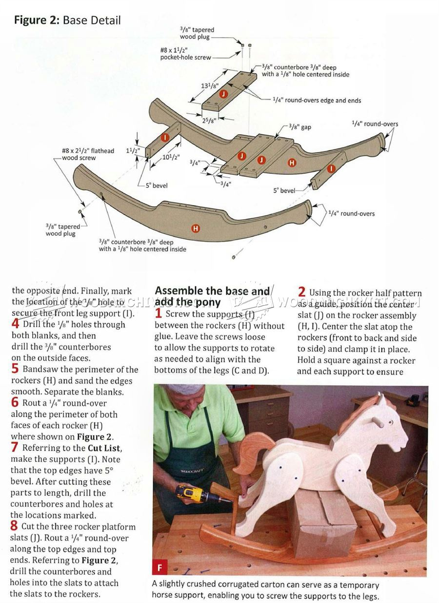 What Is A Rocker Panel >> Rocking Horse Plans • WoodArchivist