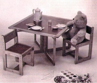 1162-Kids Table and Chair Set Plan