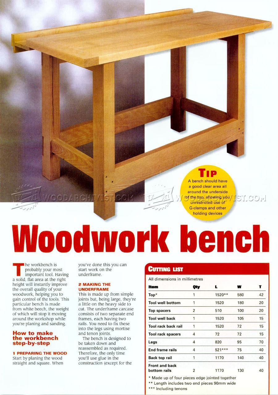 Woodworking Bench Ideas Part - 30: Woodwork Bench Plans
