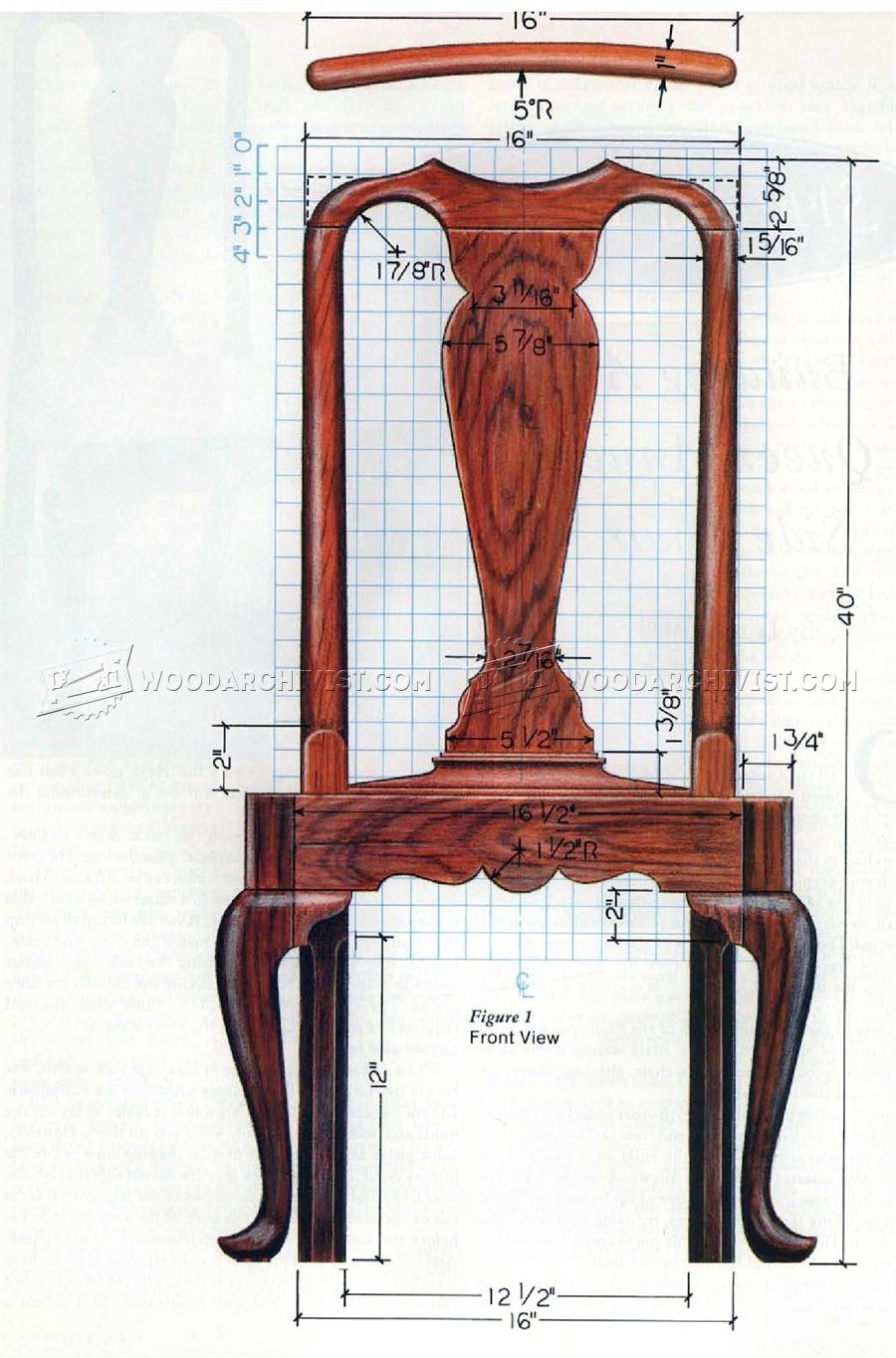 Queen Anne Side Chair Plans