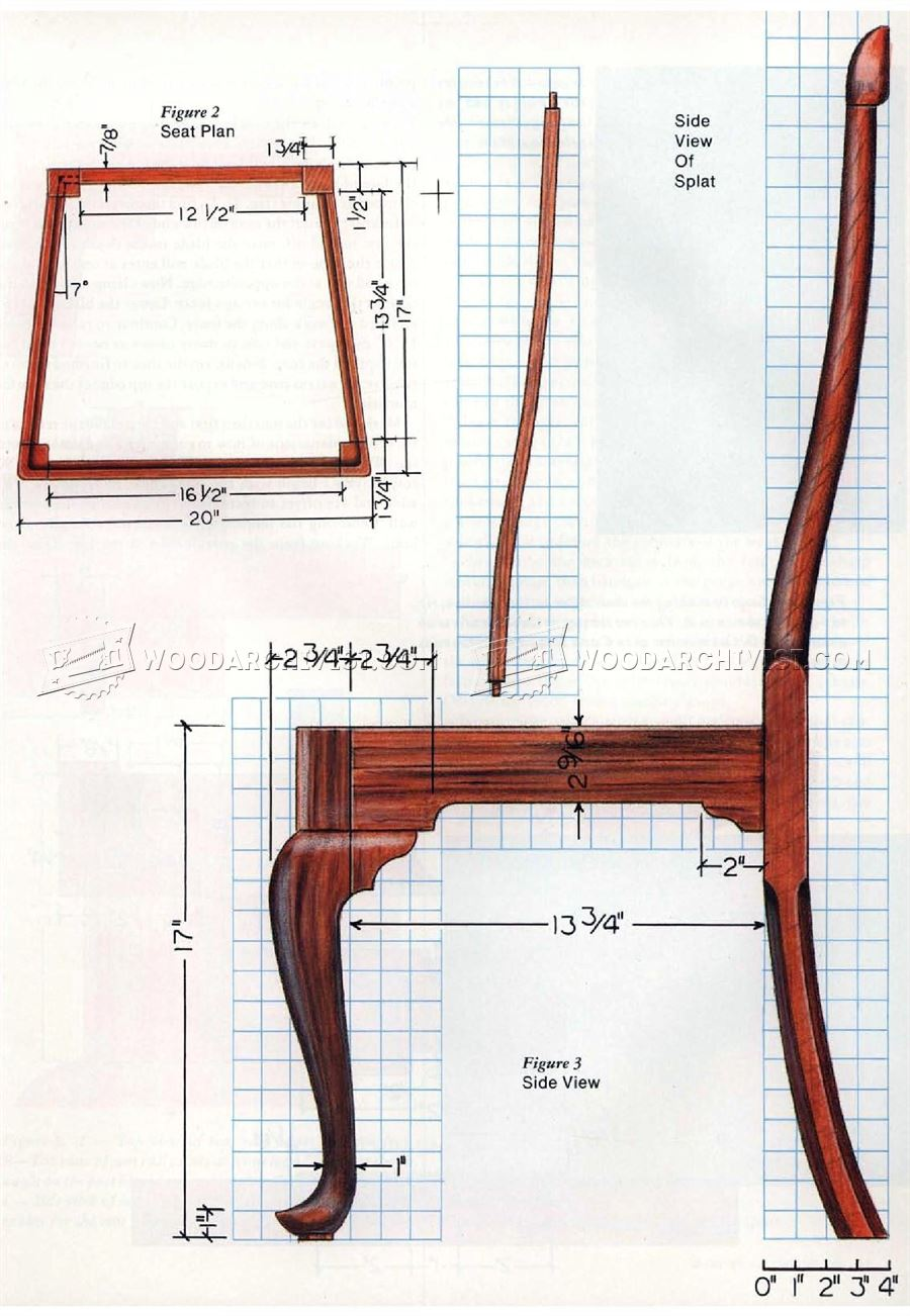 queen anne side chair plans woodarchivist