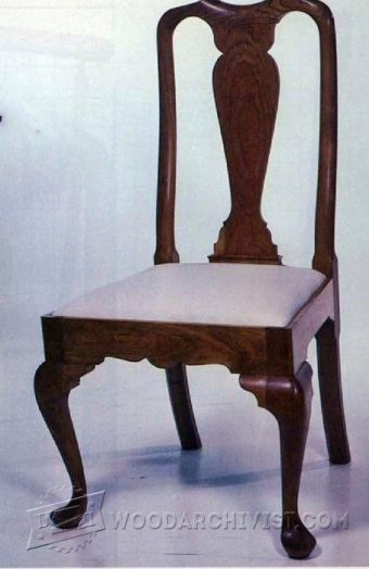 1172-Queen Anne Side Chair Plans