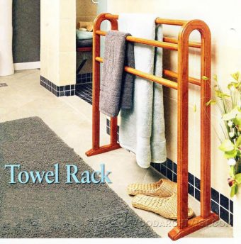 1174-Freestanding Towel Rack Plans
