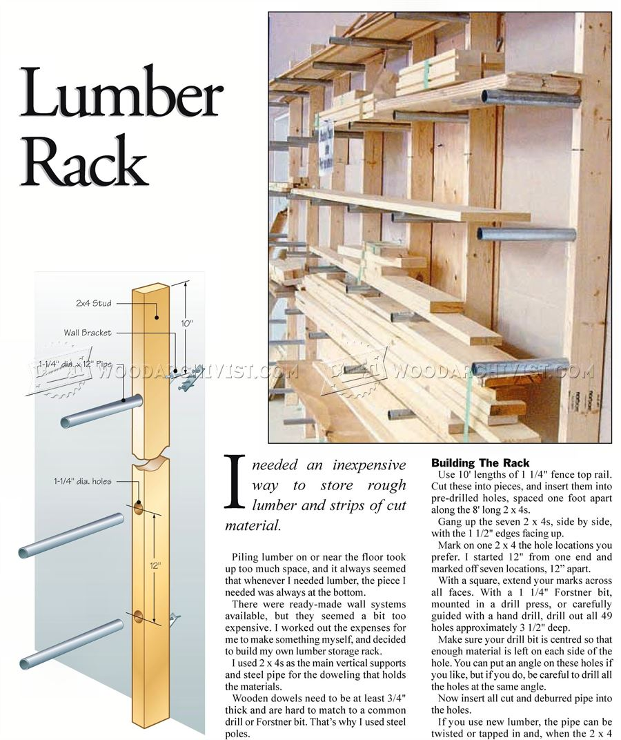 Lumber Rack Plans Woodarchivist