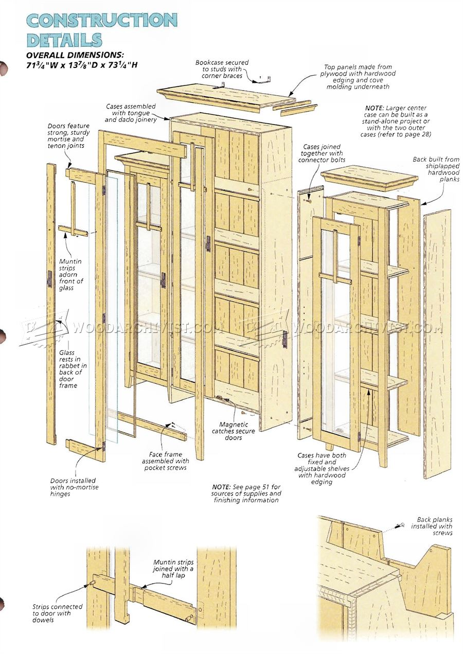 Stepback Bookcase Plans - Furniture Plans