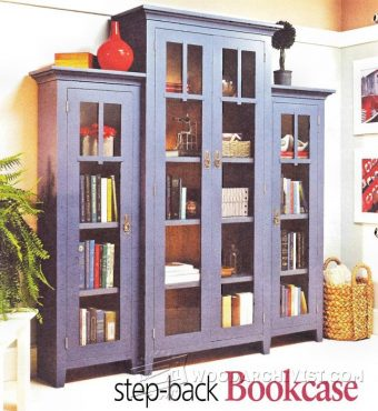 1177-Stepback Bookcase Plans