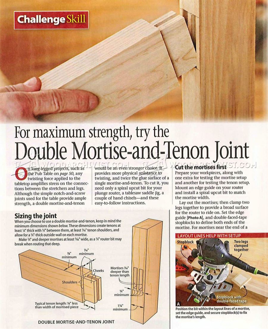 1178 Double Mortise and Tenon Joint - Joinery Tips, Jigs and ...