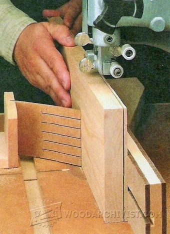 Diy Bandsaw Resaw Guide Woodarchivist