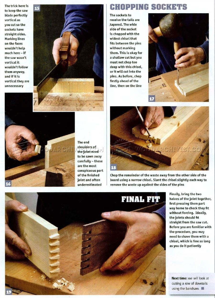 Making Dovetail Joints