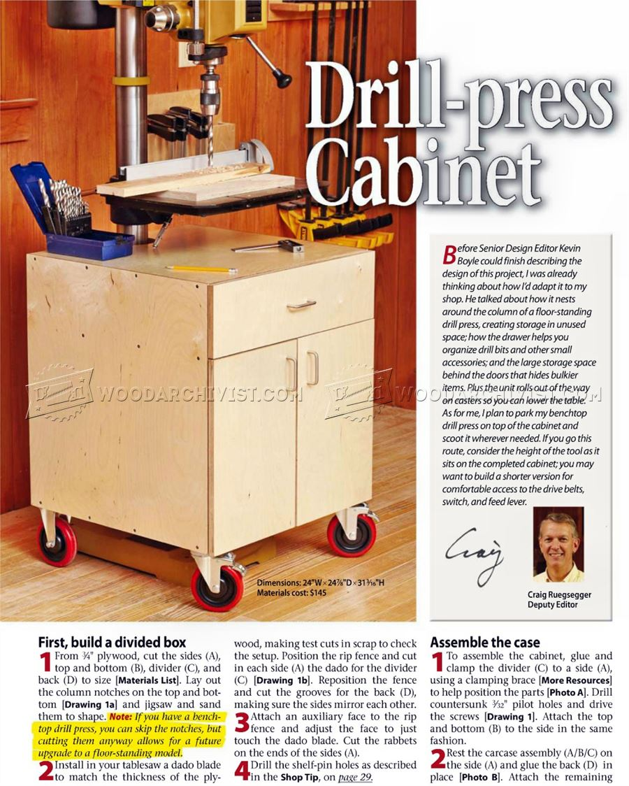 1193 drill press cabinet plans woodarchivist