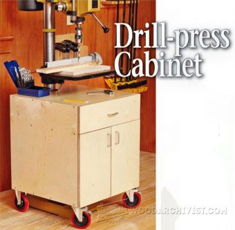 1193-Drill Press Cabinet Plans