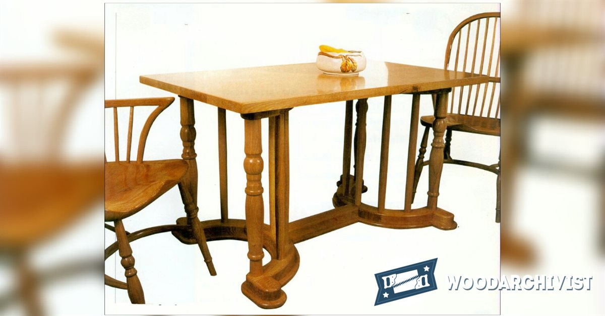 Dining Table Plans WoodArchivist : 1196 Dining Table Plans f from woodarchivist.com size 1200 x 628 jpeg 92kB