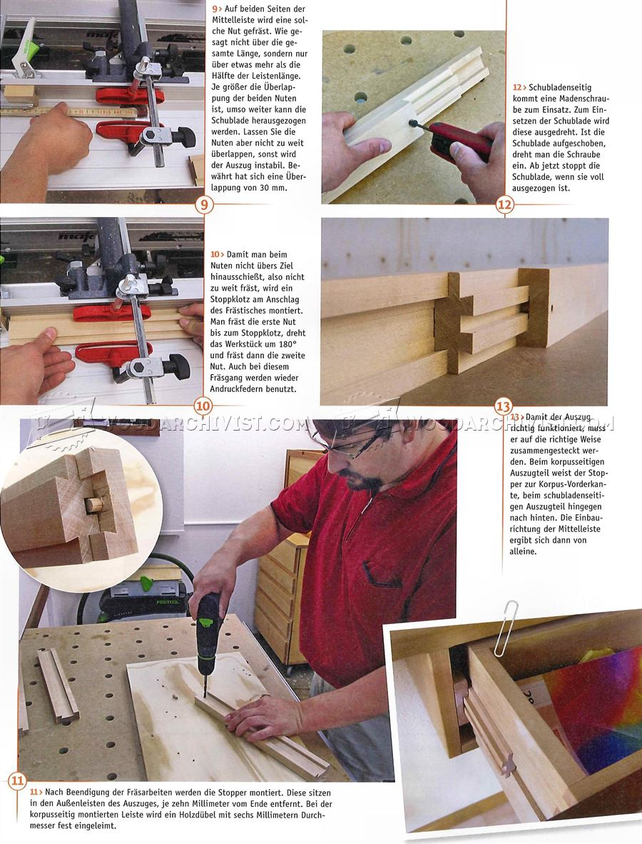 Making Wooden Drawer Slides