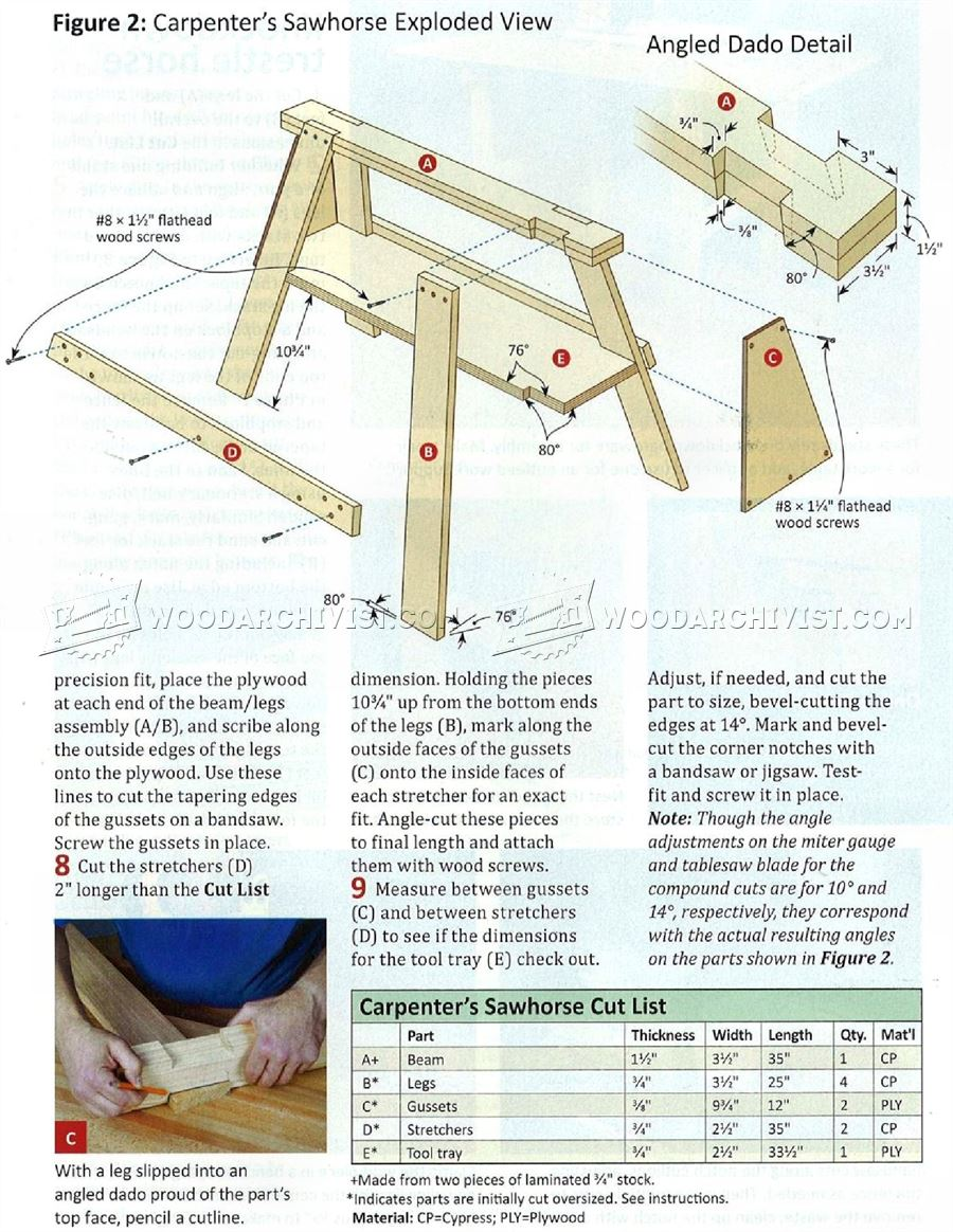 Carpenter's Sawhorse Plan