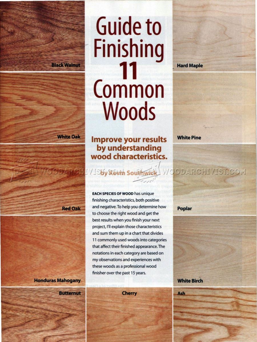 Guide to Finishing 11 Common Woods