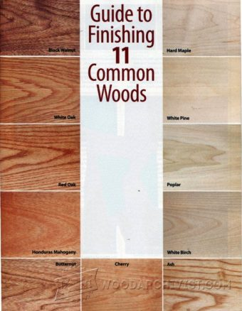 1200-Guide to Finishing 11 Common Woods
