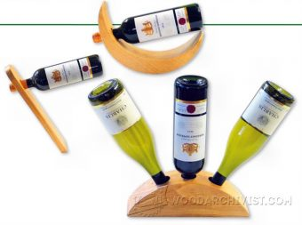 1205-Wine Bottle Holder Plans