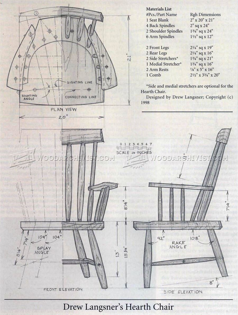Rustic Windsor Chair Plans • WoodArchivist