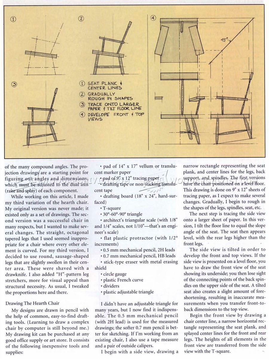 Rustic Windsor Chair Plans Woodarchivist