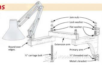 1219-Wall-Mounted Lamp Arm