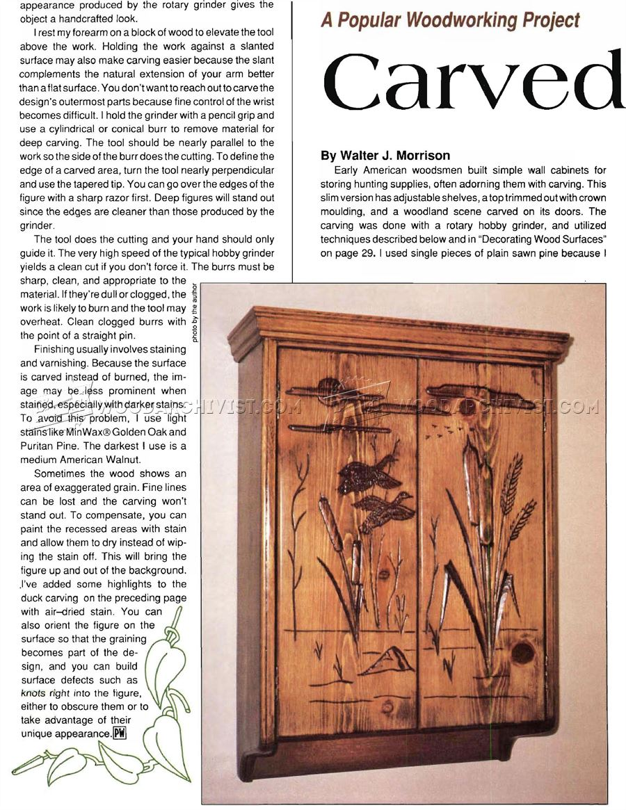Carved Wall Cabinet Plans