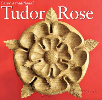 1222-Tudor Rose Carving - Wood Carving Patterns