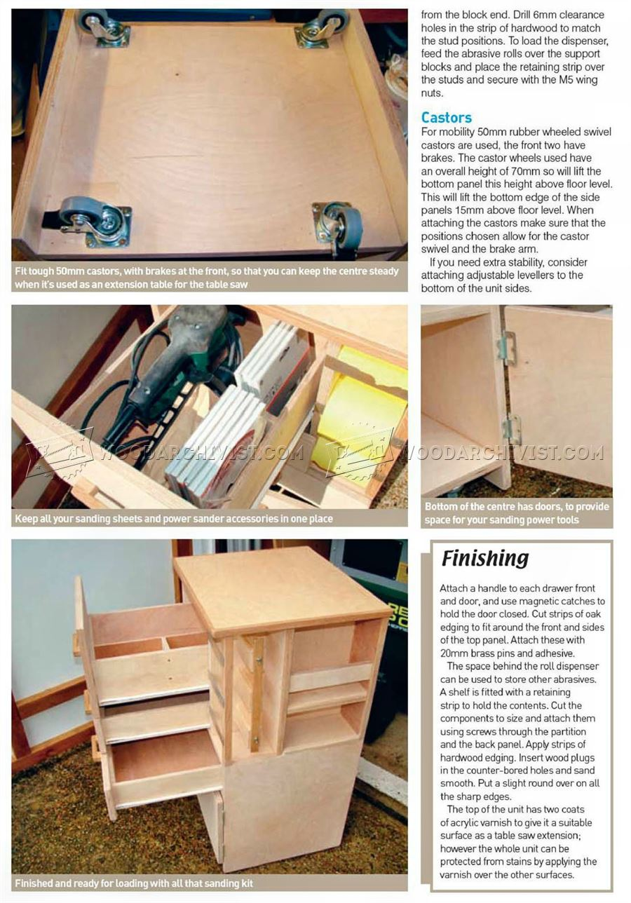 Mobile Sanding Station Plans Woodarchivist
