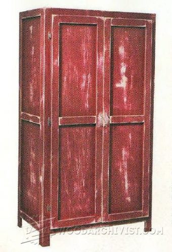 Tall cabinet plans woodarchivist for Wardrobe cabinet design woodworking plans