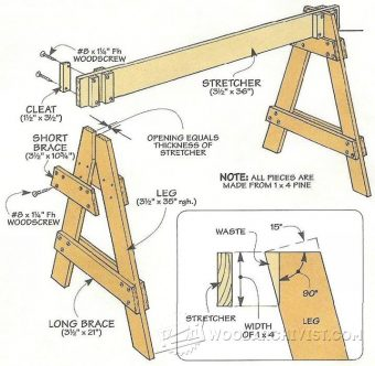 1233-Knock Down Sawhorses