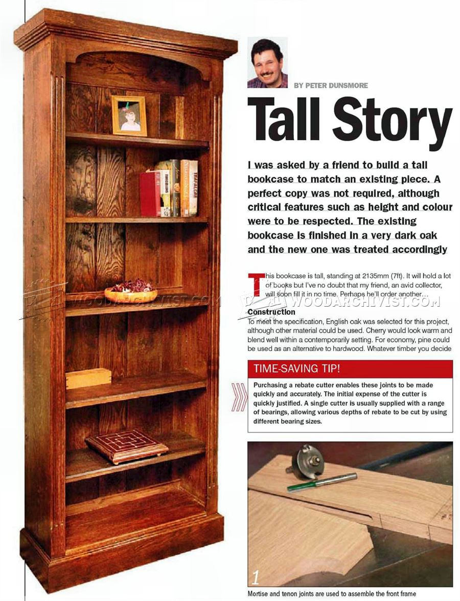 Charmant Tall Bookcase Plans