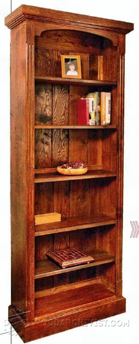 1234-Tall Bookcase Plans