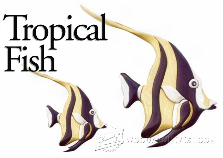 1235 Tropical Fish - Intarsia Projects • WoodArchivist