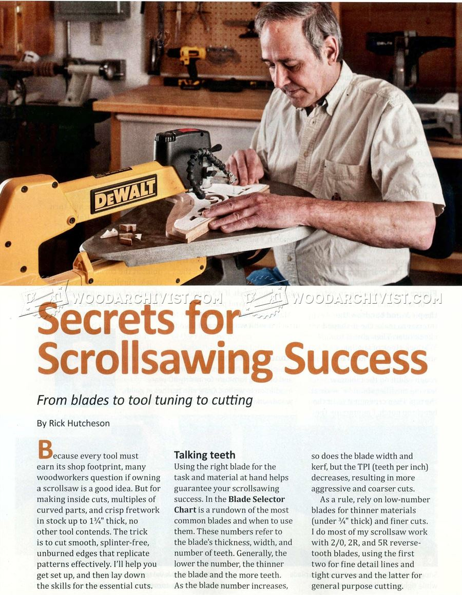Secrets for Scrollsawing Success