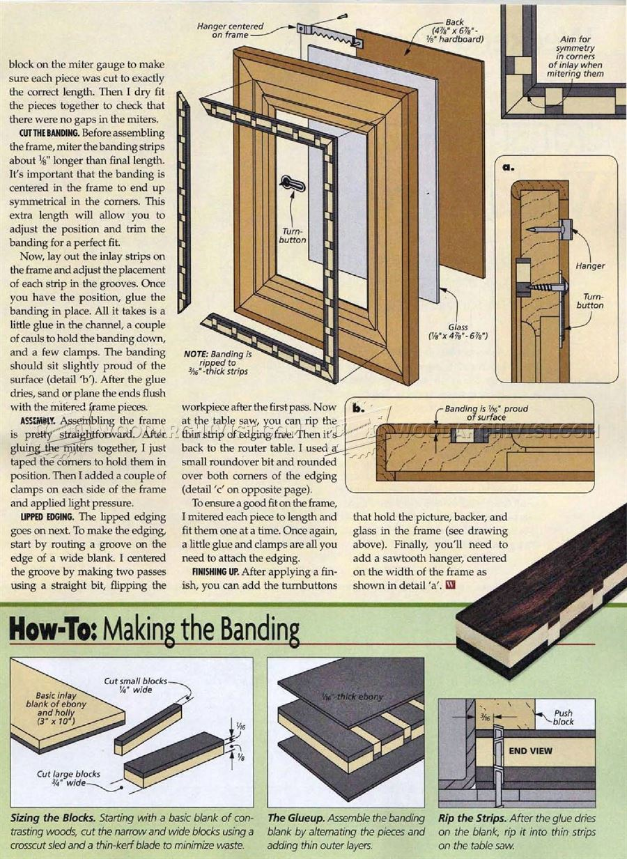 Inlaid Picture Frame Plan