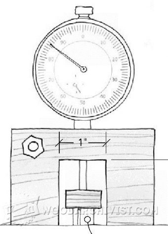 1249-Router Bit Depth Gauge
