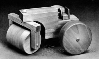 1250-Wooden Steam Roller Plan