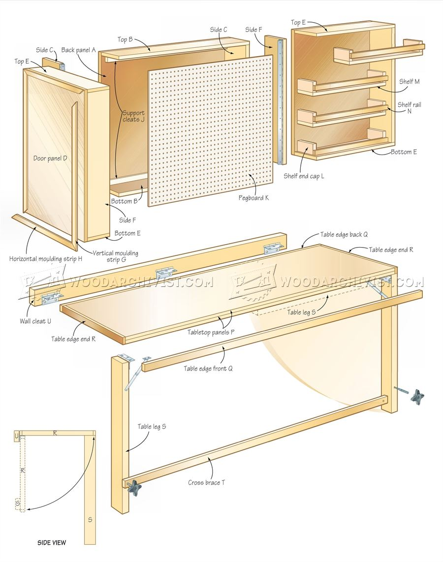 Fold Down Worktable Plans