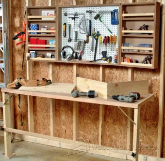 1253-Fold Down Worktable Plans
