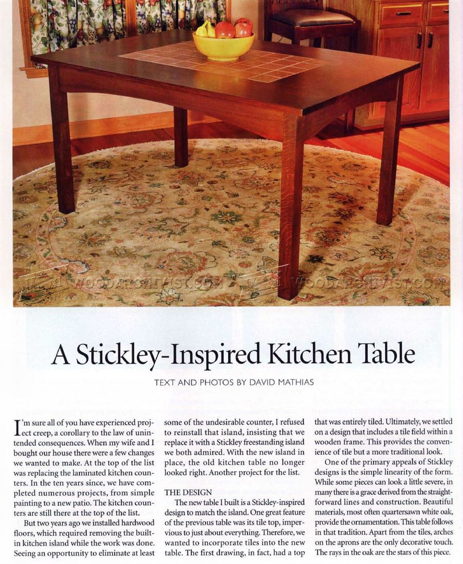 Simple DIY Woodworking Plans Kitchen Tables Wooden PDF Free