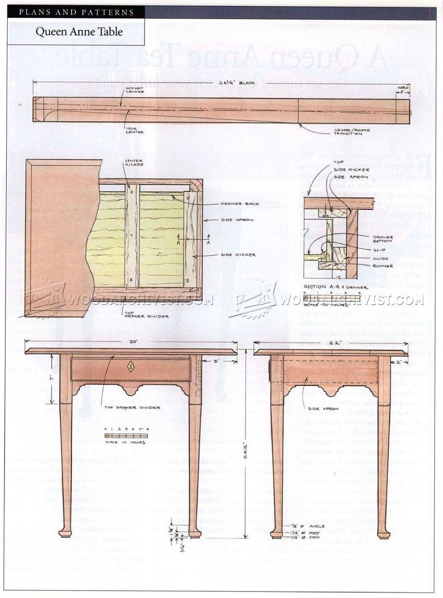Queen Anna Tea Table Plans