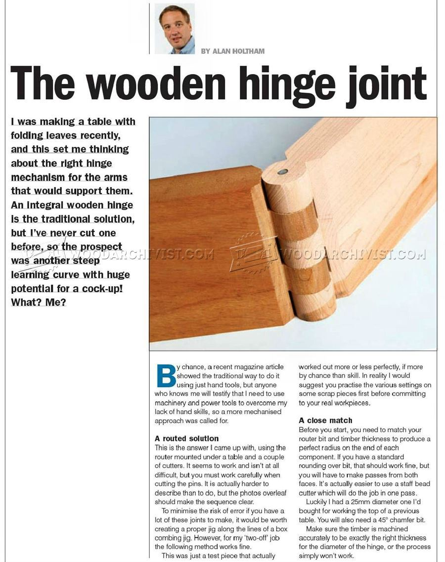 Cutting Wood Hinge Joint Woodarchivist