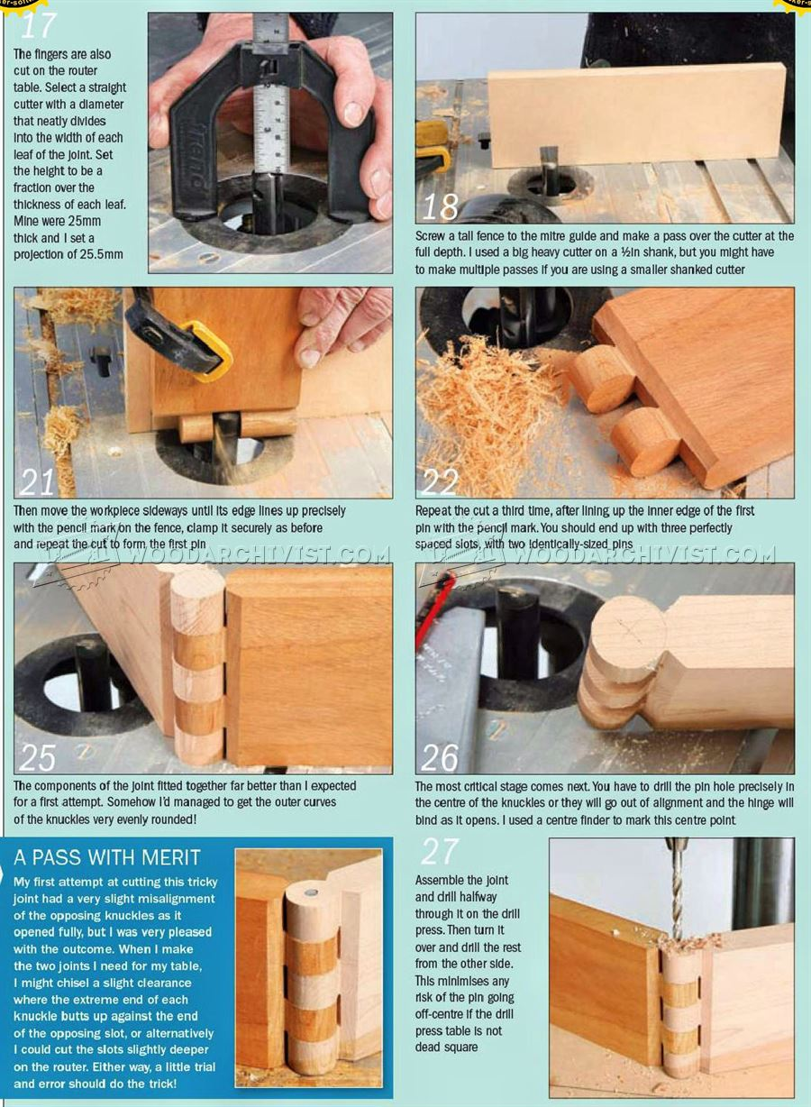 Cutting Wood Hinge Joint