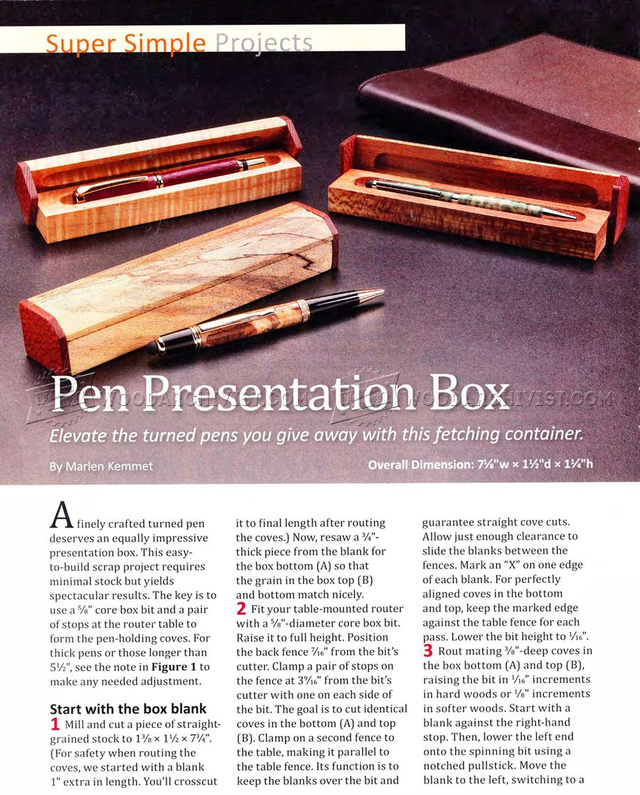 Pen Presentation Box Plans