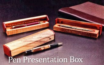 1262-Pen Presentation Box Plans