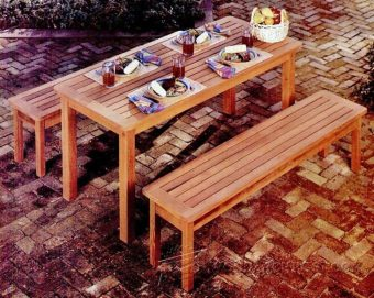 1264-Outdoor Table and Bench Plans