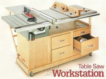 1268-Table Saw Workstation Plans