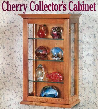 1273-Collectors Display Cabinet Plans